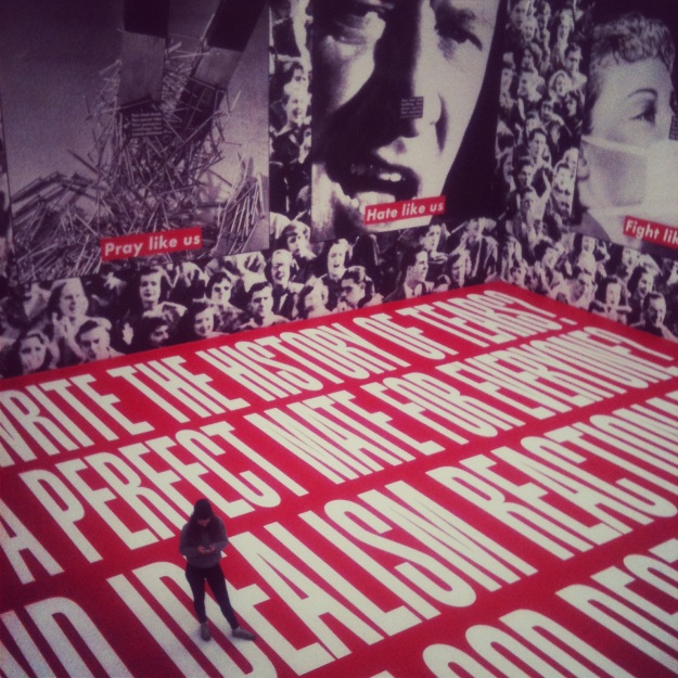 Barbara Kruger installation at Museum Ludwig